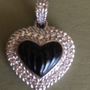 Judith Ripka Sterling Silver Pendant/Enhancer